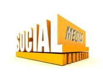 De sociale Marketing van Media stock illustratie