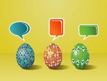 De sociale media geschilderde interactie van Pasen stock illustratie