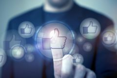 De sociale Media houden van Royalty-vrije Stock Afbeeldingen