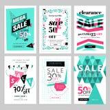 De sociale media inzameling van verkoopbanners Stock Afbeeldingen