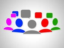 De sociale Media vertegenwoordigen Verbindende Mensen en Youtube Stock Foto