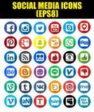 De sociale Pictogrammen van het Netwerk Stock Fotografie