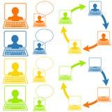 De sociale Pictogrammen van het Voorzien van een netwerk Stock Fotografie