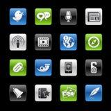 De sociale Reeks van // Gelbox van Media stock illustratie