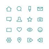 De sociale reeks van het netwerkpictogram Stock Foto's