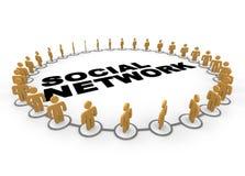 De sociale Ring van het Netwerk Stock Fotografie