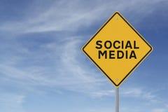 De sociale Verkeersteken van Media Royalty-vrije Stock Afbeelding