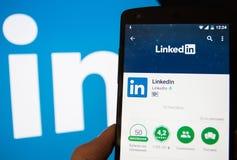 De sociale voorzien van een netwerkdienst LinkedIn Royalty-vrije Stock Foto