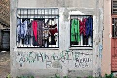 De Sociale wasserij van Istanboel: Straat Stock Afbeelding