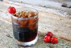 De Soda van de kers Stock Afbeeldingen
