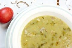 De soep en het ei van Pasen stock foto's