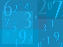 De Soep van aantallen op blauwe achtergrond Stock Afbeeldingen