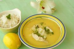 De soep van Avgolemono Royalty-vrije Stock Afbeeldingen