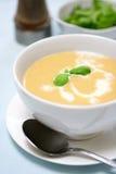 De soep van Butternut en van de aardappel Royalty-vrije Stock Afbeeldingen