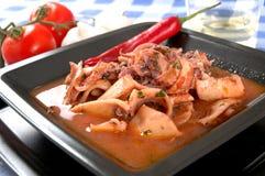 De soep van Calamari Stock Fotografie