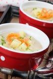 De soep van de aardappel Royalty-vrije Stock Foto