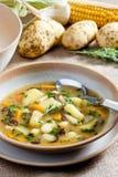 De soep van de aardappel stock fotografie