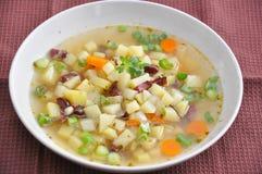 De Soep van de aardappel Stock Afbeeldingen