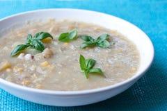 De soep van de aardappel met graan Stock Afbeelding