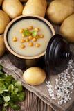 De soep van de aardappelroom Royalty-vrije Stock Afbeeldingen