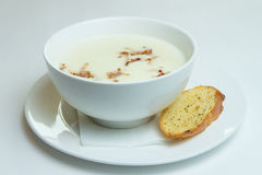 De soep van de aardappelroom royalty-vrije stock fotografie