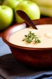 De Soep van de appel en van de Prei Royalty-vrije Stock Foto