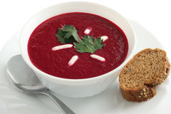 De soep van de biet stock foto's