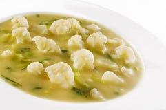 De soep van de bloemkool Stock Fotografie
