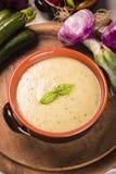 De soep van de courgette Royalty-vrije Stock Afbeeldingen