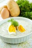 De soep van de dille met ei Royalty-vrije Stock Foto