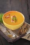 De soep van de erwt stock foto's
