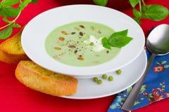 De soep van de erwt Stock Foto