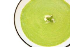 De soep van de erwt en van de munt Royalty-vrije Stock Foto's