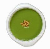 De soep van de erwt met pijnboomnoten Royalty-vrije Stock Afbeelding