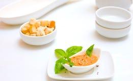 De soep van de Gazpachotomaat royalty-vrije stock fotografie