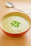 De soep van de groene erwtenroom Royalty-vrije Stock Afbeelding