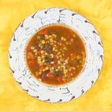 De soep van de groente en van het rundvlees royalty-vrije stock foto