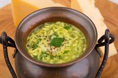 De soep van de kaas Stock Foto