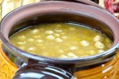 De soep van de kikkererwt stock afbeelding