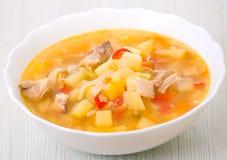 De soep van de kip stock foto's