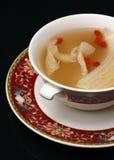 De soep van de kip met bonen en groente Stock Foto