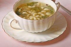 De soep van deegwaren Stock Afbeeldingen