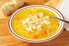 De soep van de kippennoedel royalty-vrije stock afbeeldingen