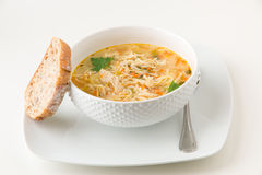 De soep van de kippennoedel royalty-vrije stock foto's