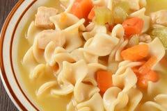 De soep van de kippennoedel stock fotografie
