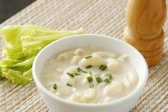 De Soep van de macaroni stock foto's