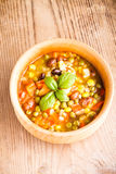 De soep van de minestrone Stock Foto