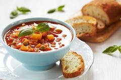 De soep van de minestrone stock afbeeldingen