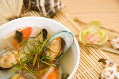 De soep van de mossel Stock Foto