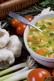 De soep van de Noedel van de kip Royalty-vrije Stock Afbeeldingen